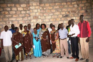 HE Mrs Ruto poses for a photo with County MP Hon Joyce Emanikor and JoyWo Programme Officers in Turkana in 2014