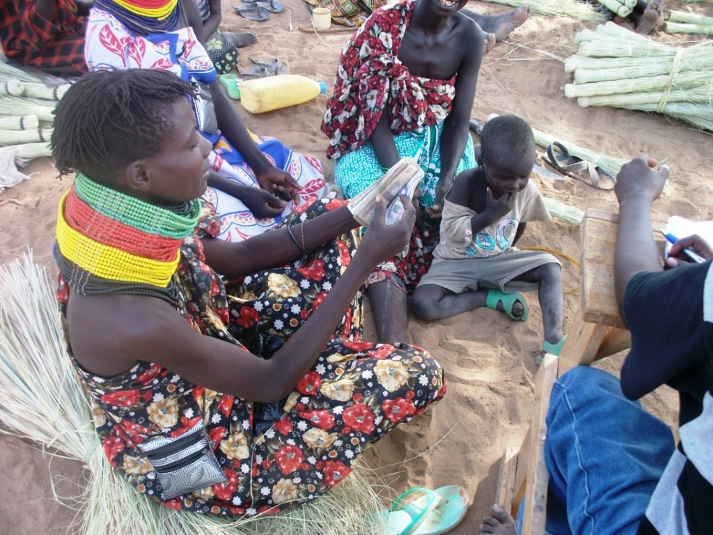 Kakwanyang women group in Township ward, Turkana sub-county, with a total of Kshs.43,270.00  to be shared