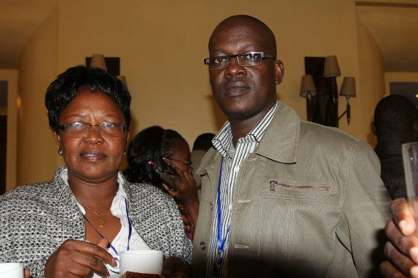 Listen to us: Turkana women's rep Joyce Emanikor and Loima MP Ewesit Akuja at Safari Park Hotel on April 11, 2013.