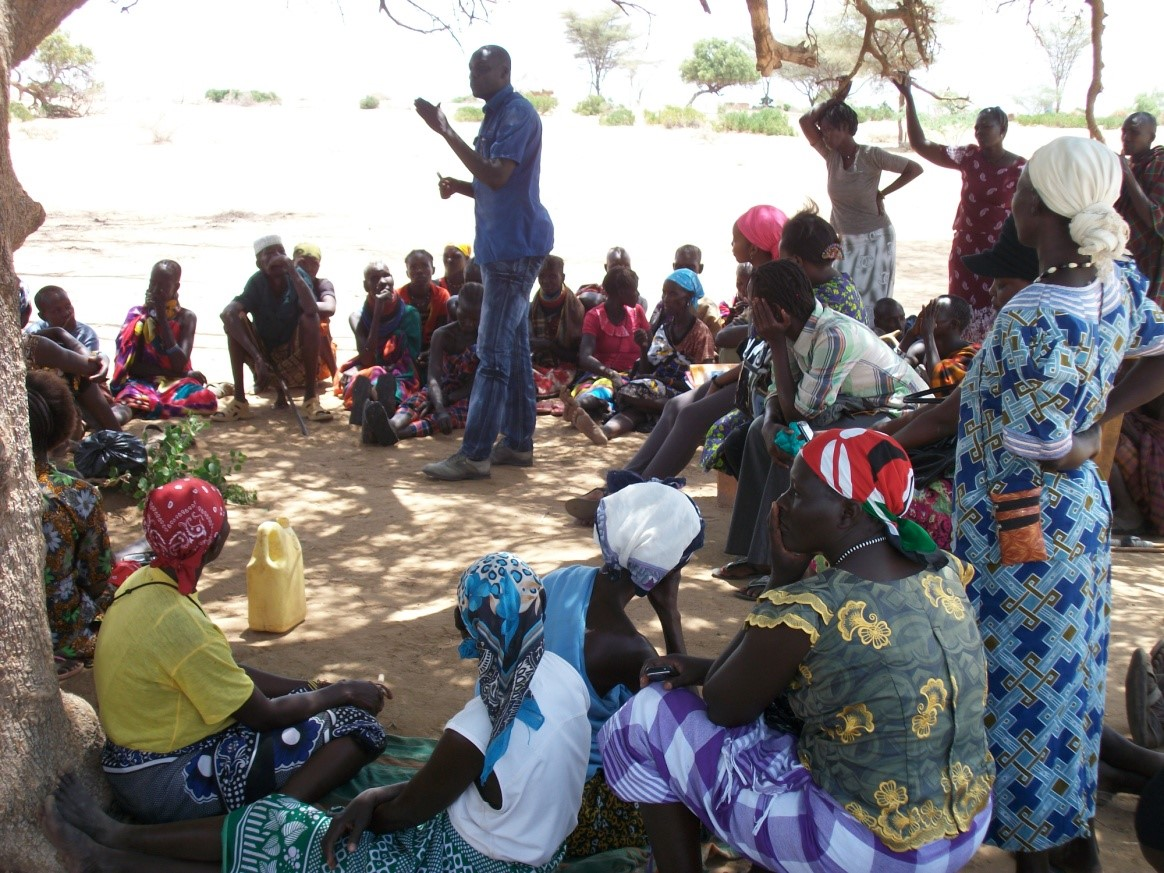 Turkana East Programme, Training women on Table banking concept in Nadapal